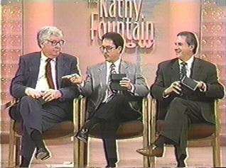 Chairman Terry Smiljanich (right), founder Gary Posner (center) and then-vice-chairman Miles Hardy about to reveal the contents of their sealed